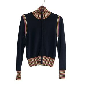 Tory Burch Neville Wool Zip Up jacket